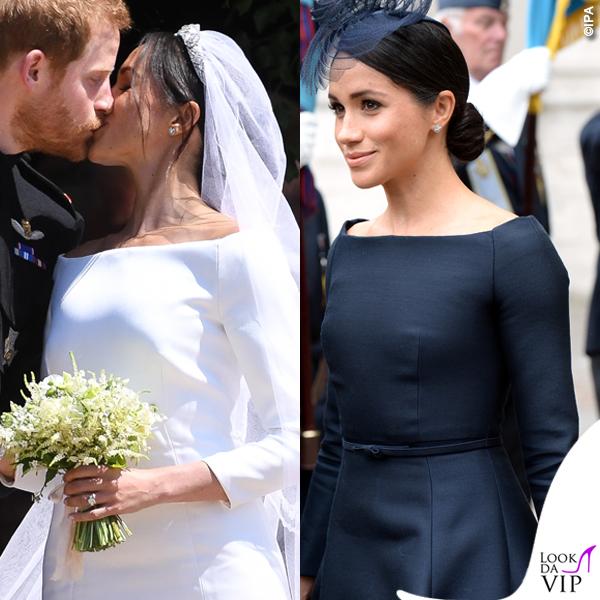 Meghan Markle abito da sposa Givenchy abito nero Dior 2