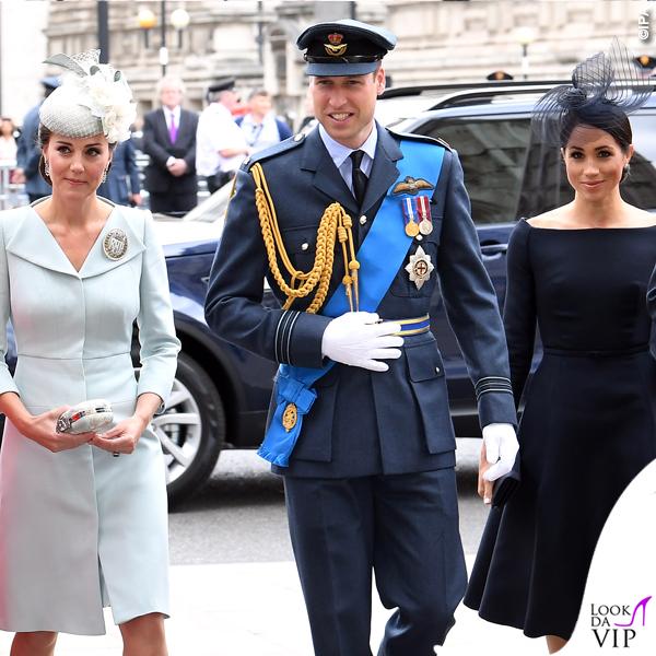 Meghan Markle abito nero Dior Kate Middleton 2