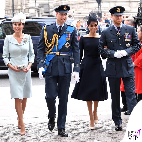 Meghan Markle abito nero Dior Kate Middleton
