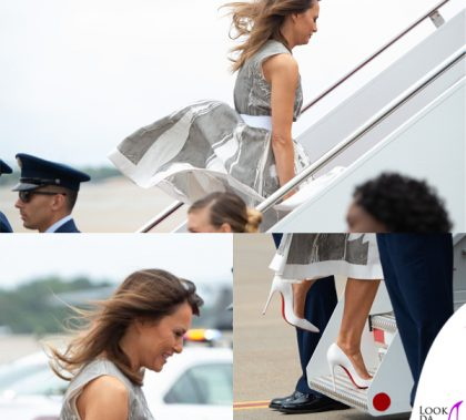 Melania Trump wardrobe malfunction
