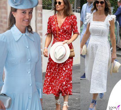 Pippa Middleton abito Alessandra Rich abito Anna Manson abito Ralph Lauren