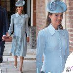 Pippa Middleton abito Alessandra Rich scarpe Jimmy Choo battesimo Louis