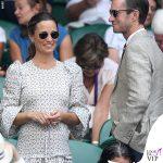 Pippa Middleton abito Anna Manson Christy Plein scarpe Castaner clutch JCrew