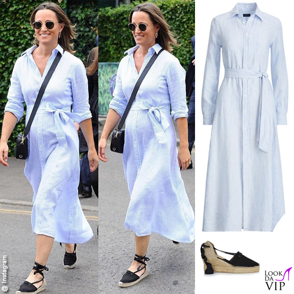 Pippa Middleton abito Ralph Lauren scarpe Penelope Chilvers Valenciana