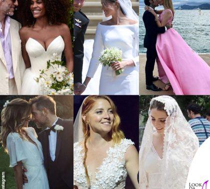 Abiti da sposa vip Kunakey Markle Lagerback Noemi Shaffer Ferragni