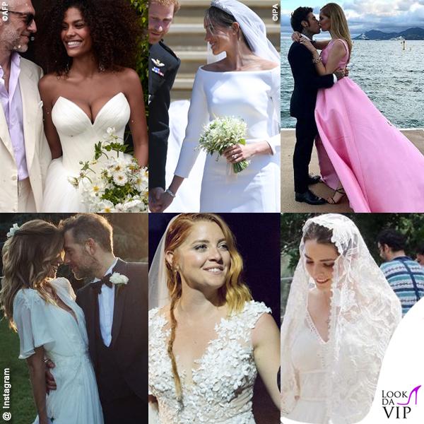 94890acfa6aa Abiti da sposa vip Kunakey Markle Lagerback Noemi Shaffer Ferragni ...