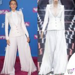 Blake Lively tailleur bianco Ralph&Russo