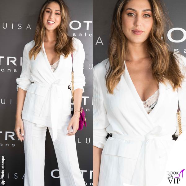 Cecilia Rodriguez tailleur bianco