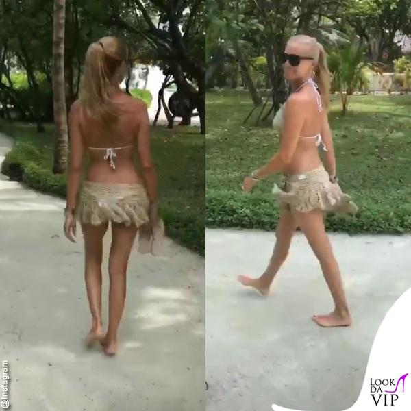 Federica Panicucci Maldive bikini le Naty