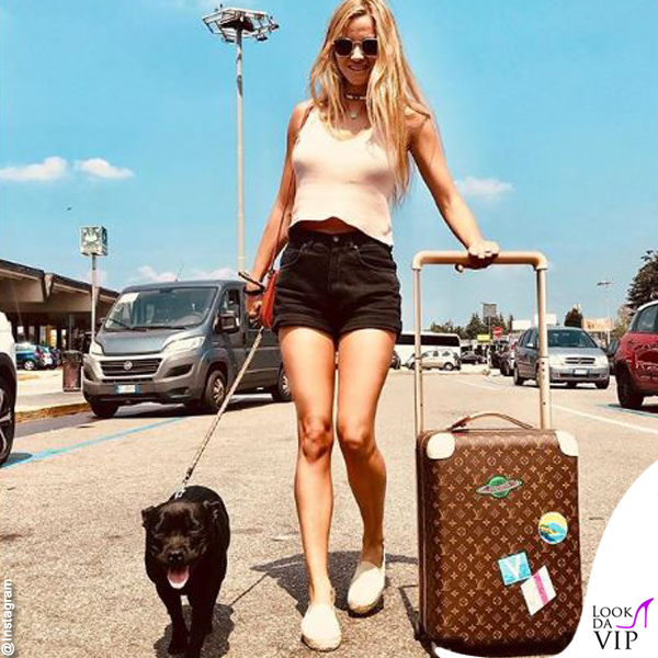 Fiammetta Cicogna valigia Louis Vuitton