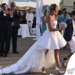 Francesca Barra abito da sposa scarpe Le Silla