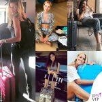 Rocio, Chiara & co: le vip sfoggiano la valigia