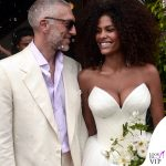 Matrimonio Vincent Cassel Tina Kunakey abito Vera Wang