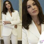 Monica Bellucci tailleur bianco