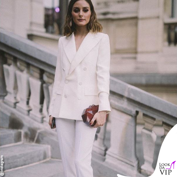 Olivia Palermo tailleur bianco