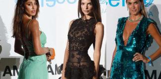 Unicef Summer Gala Emily Ratajkowski abito Oscar de la Renta Belen Rodriguez abito Versace vintage Melissa Satta abito Elisabetta Franchi