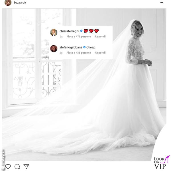 Bazaar UK Chiara Ferragni primo abito da sposa Dior Stefano Gabbana