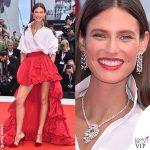 Bianca Balti abito OVS scarpe Alevi gioielli Chopard
