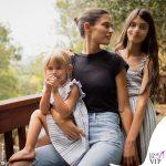 Bianca Balti con le figlie Matilde e Mia