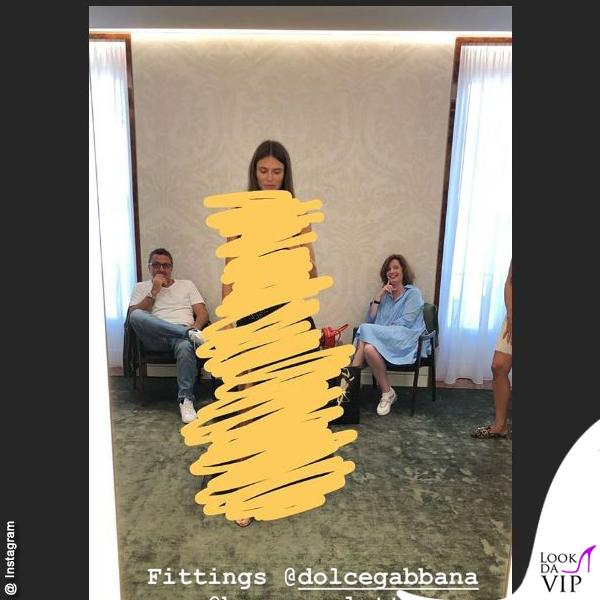 Bianca Balti fitting Dolce & Gabbana