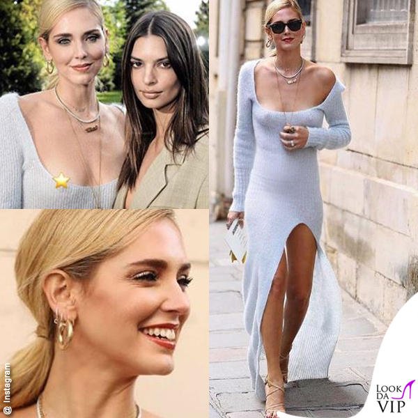 Chiara Ferragni PFW total look Jacquemus Emily Ratajkowski nipple