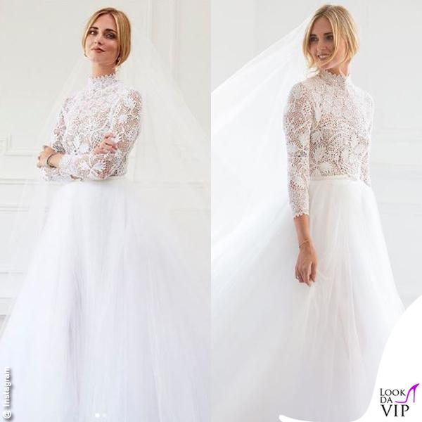 Chiara Ferragni primo abito da sposa Dior scarpe J'adior
