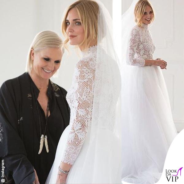 Chiara Ferragni primo abito da sposa Dior scarpe J'adior 2