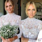 Chiara Ferragni primo abito da sposa Dior scarpe J'adior The Ferragnez