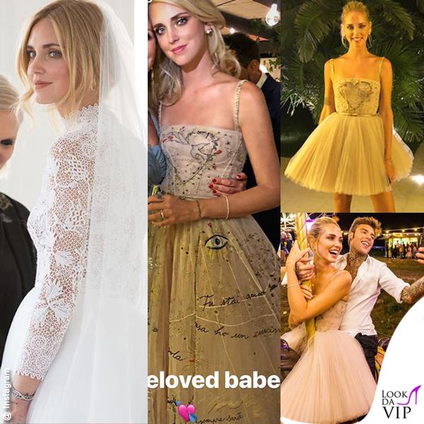 promo code a0684 bd0cc Dal pizzo al tulle: i tre vestiti Dior di Chiara Ferragni ...