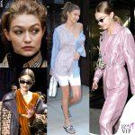 Gigi Hadid tra borse, scarpe e la faccia strana