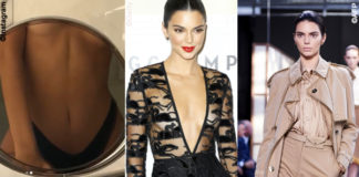 Kendall Jenner sfilata Burberry evento Longchamp