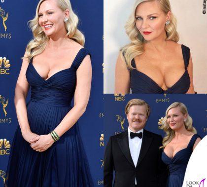 Kirsten Dunst Emmy Awards abito Schiaparelli gioielli Fred Leighton