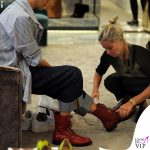 Nina Zilli total look Vivienne Westwood stivaletti rossi Casadei 3