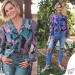 Simona Ventura Temptation camicia Marco De Vincenzo jeans 2w2m sandali Anna Baiguera