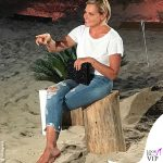 Simona Ventura Temptation jeans t-shirt bianca