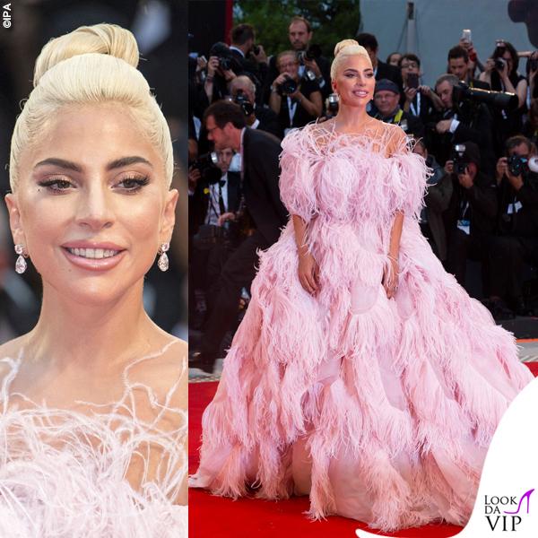 Venezia75 Lady Gaga abito Valentino gioielli Chopard