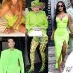 Elisabetta trendsetter: tutte in verde fluo