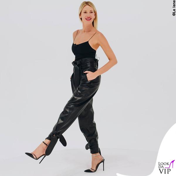 Alessia Marcuzzi pantaloni Attivo scarpe Alevi