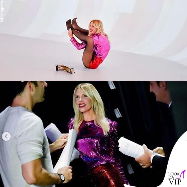 Alessia Marcuzzi top e short Philosophy pump Gianvito Rossi 7