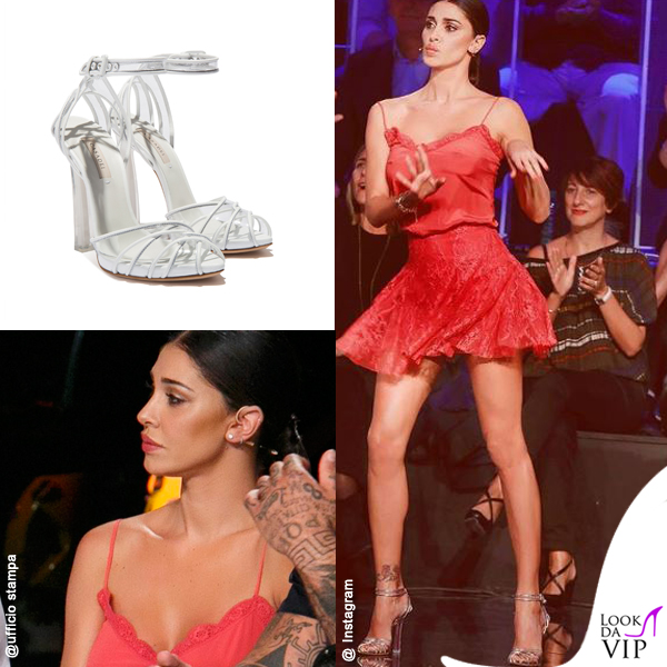 Belen Rodriguez 4 puntata Tu si que vales outfit Blumarine scarpe Casadei