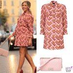 Costanza Caracciolo abito Elisabetta Franchi borsa Chanel 2