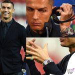 Cristiano Ronaldo con l'orologio da 2 milioni