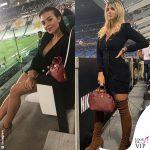 Georgina Rodriguez Wanda Nara look da stadio
