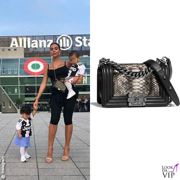 Georgina Rodriguez borsa Chanel Boy pyton