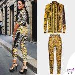 Georgina Rodriguez total look Versace INSTAGRAM