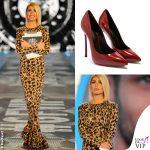 Ilary Blasi GFVip 2 puntata abito Le Twins scarpe Casadei Blade