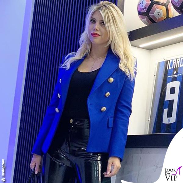 Inter Milan Wanda Nara total look Balmain 2