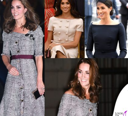 Kate Middleton abito Erdem clutch e pump Jimmy Choo