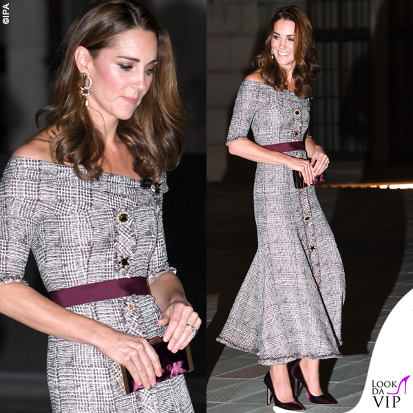 Kate Middleton abito Erdem clutch e pump Jimmy Choo 5