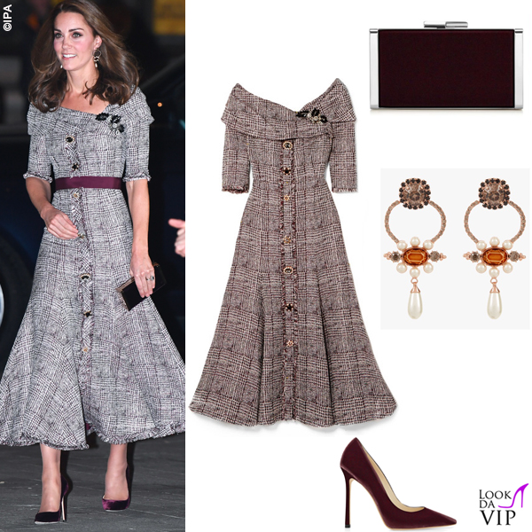 Kate Middleton abito Erdem clutch e pump Jimmy Choo 7